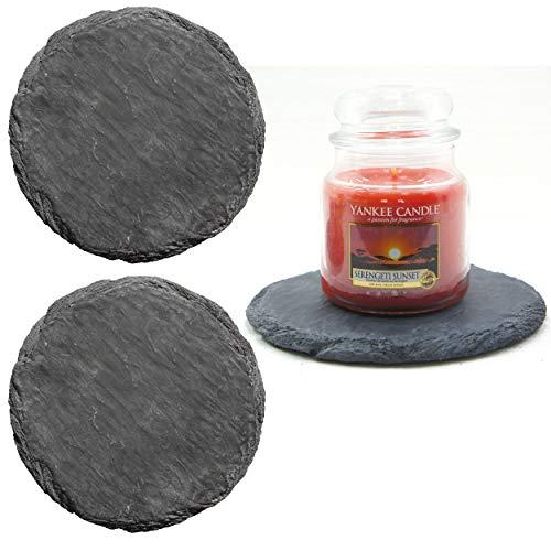 2 vassoi grandi Harmony Scaping effetto ardesia erosa per Yankee Candle, decorazione versatile, candele non incluse