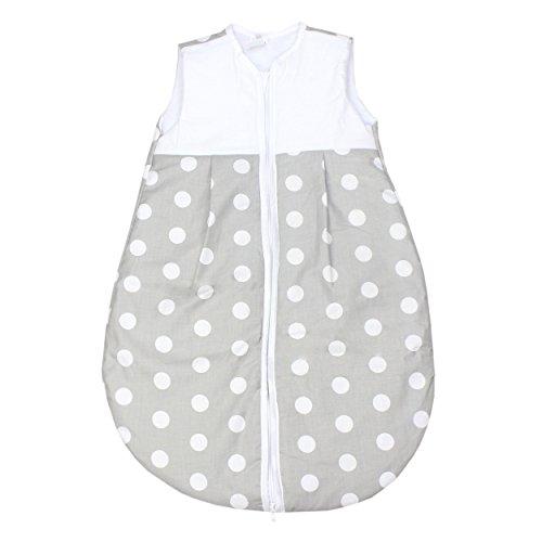 Produktbild TupTam Baby Schlafsack Wattiert Ohne Ärmel ANK001, Farbe: Tupfen Grau, Größe: 92-98