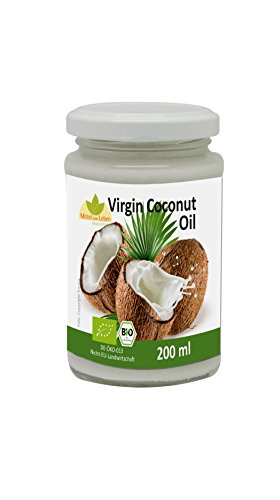 Bio-Kokosfett/Kokosöl, kaltgepresst - 100% naturrein (Lebensmittel und Kosmetik) - verschiedene Größen (6 x 200ml)