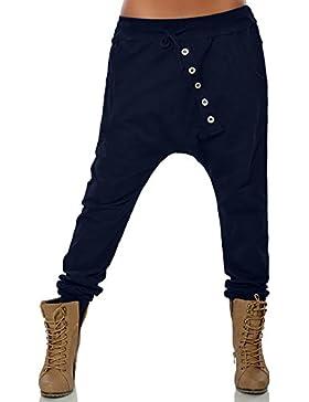 DOGZI Mujer Pantalones Tallas Grandes Botón Pies pequeños Pantalones Mujer Moda Hipsters Harén Pantalones Pololos...