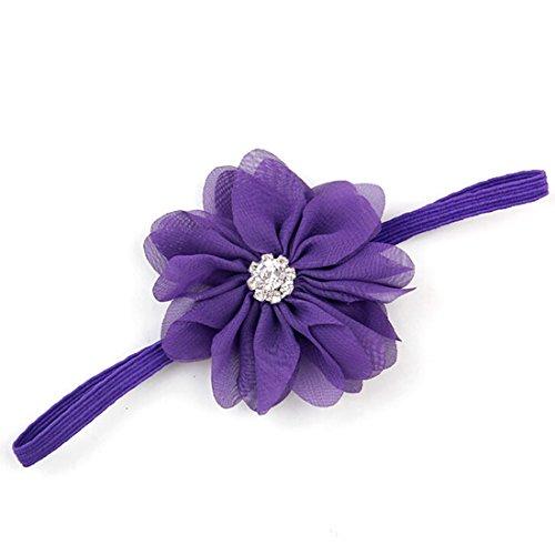 Baby Toddler Wave Shape Flower Crystal Headbands Hair Band Decor Cute Soft Fabric Headwear