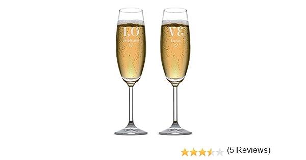 Lot De 2 Flûtes à Champagne Personnalisables Love