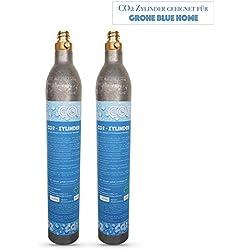 Neues Wasser Group Pack de 2 cylindres/bouteilles de CO2 - Convient pour les systèmes d'eau potable GROHE Blue Home Cartouches de CO2.