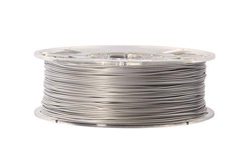 esun 3D Filament–ABS, 1kg, 1,75/3.00mm–plusieurs couleurs, pression Tempe. 220-260& # x2103–par exemple, pour imprimante 3D MakerBot RepRap MakerGear Ultimaker Mendel huxlep Up Thing Tune-o-matic, universel, 3.00mm, argenté