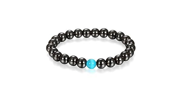 Energiearmband Energie Armband Magnete Schwarz Blau Buddha Gebet Mala Kugel