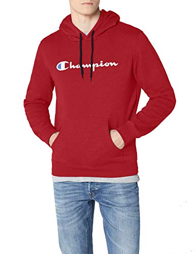 Red Classic Logo Pullover (Champion Classic Logo Herren Kapuzenpullover, Red, XX-Large)