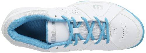 Wilson  RUSH SWING W WHITE/WHITE/OCEANA, Baskets de tennis femme Multicolore - Mehrfarbig (White/White/Oceana)