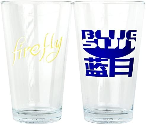L'achat en deux parties est poli, très satisfait Quantum Mechanix Firefly Pint Glass Set | Valeur Formidable