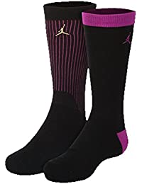 2a1672cdc875 Nike Air Jordan Boys Jumpman Crew Socks 2 Pack (4-5 (Shoe 7C