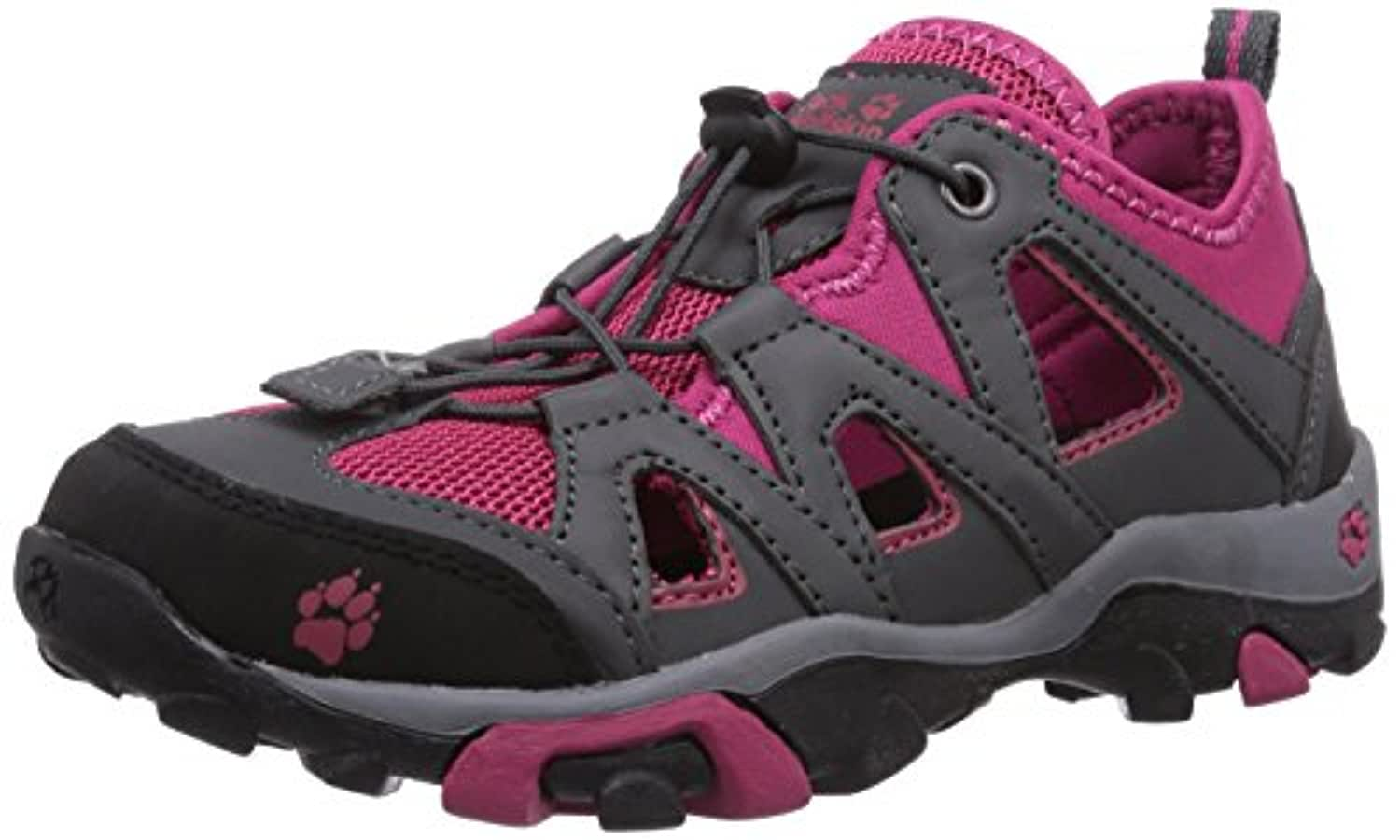 Jack Wolfskin Kids Mtn Attack Air, Unisex Kids' Hiking Shoes, Grey (azalea red 2081), 1 UK (33 EU)