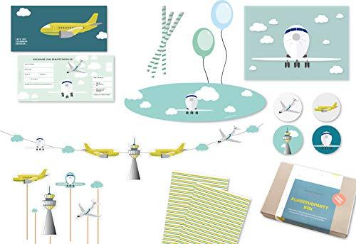 Invito, decorazione & Gioco idee per il pilota aereo di compleanno dei bambini (10bambini)