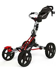 Clicgear 8.0 4-Wheel Trolley Cart Silver/Red Silver/Red
