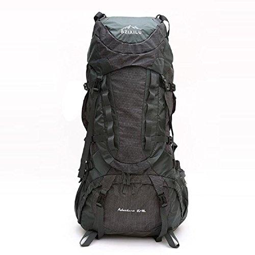 LJ&L Outdoor-Fernreisen Rucksack, 75 Liter große Kapazität Regenabdeckung wasserdichte Bergsteigen Tasche, geeignet für Mountain Riding Rucksack B