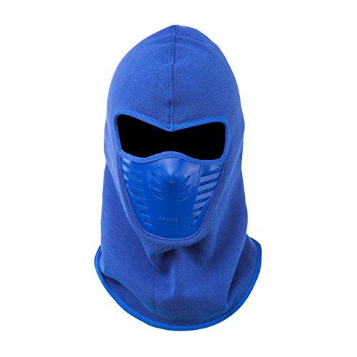 FaithYoo PM2.5 Thermo-Gesichtsmaske, multifunktionaler Schal, winddicht, staubdicht, für Außensport/ Motorrad/ Reiten, mit Kohlestoffschutzfilter, Dunkelblau blau (Maske Green Skull Ski)