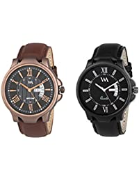 Watch Me Day And Date Analog Watches Gift Combo Set Of 2 Watches For Men And Boys DDWM-022-023bys