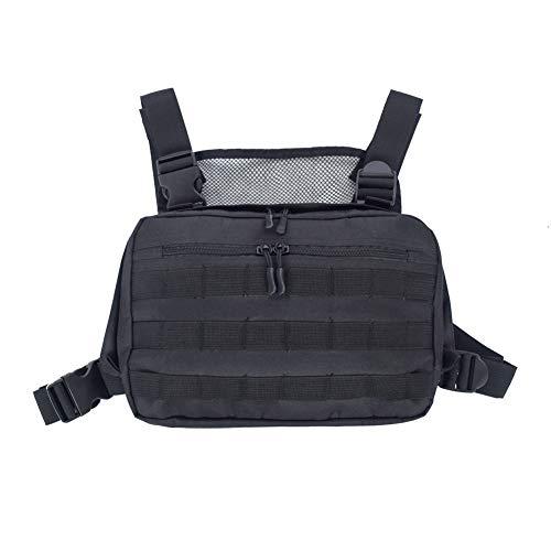 CawBing Männer Frauen Taktische Weste Umhängetaschen Brust Rig Bag Hip Hop Verstellbare Taschen Kreuz Umhängetasche Funktionale Taille Packs -