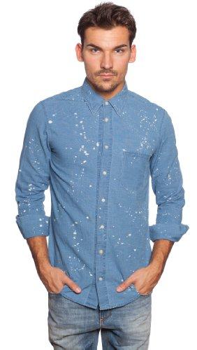 BOSS orange chemise pour homme cieloebuE 50259235 Multicolore - Hellblau, Weiß