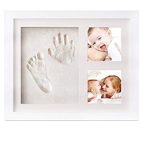Ndier AzuNaisi Baby Handprint Kit & Footprint Kit Lehm Bilderrahmen für Neugeborene Hand Impression Foto Andenken Beste Dusche Geschenke Set für Mädchen und Jungen homezubehör (Danken Geschenke Ihnen Baby-dusche)
