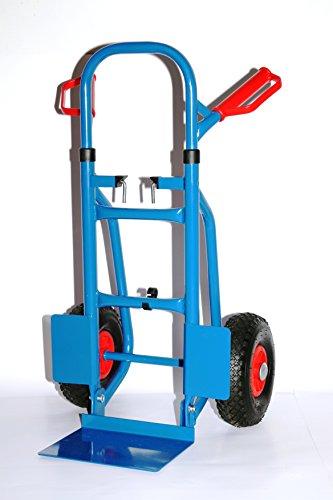 Sackkarre faltbar 250 KG blau, HxBxT: 120x50x53 cm (Transportkarre Stapelkarre Handkarre)
