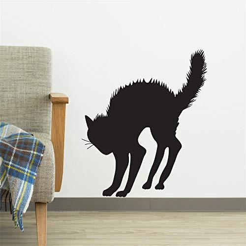 wandaufkleber küche fliesen Gruselige Halloween-Katze