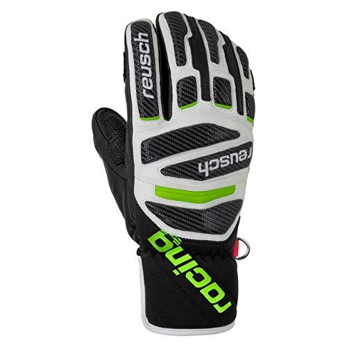 Reusch Race Tec 18 Pro Lobster Herren Handschuhe, Black/White/neon Green, 8.5