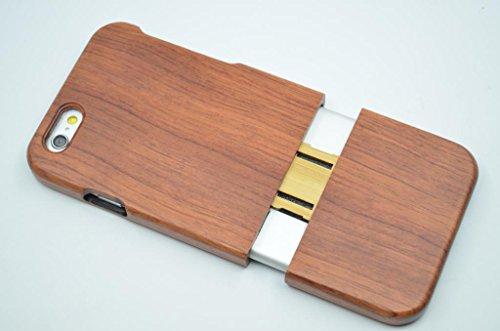 iPhone 6s Hülle (4,7 Zoll), Holzsammlung® Holz Tasche für iPhone 6s (Nussbaum Halb große Blume) - Holzsammlung® Handgefertigt Hölzernen Fall und Abdeckung für Ihr Smartphone und Tablet PC Roseholz