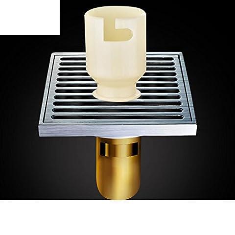 Drain de plancher grand déodorant de cuivre/Salle de bain salle de bain lave linge s'égoutter-E