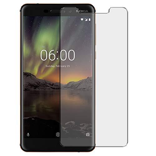 Conie 9H2568 9H Panzerfolie Kompatibel mit Nokia 6 2018, Panzerglas Glasfolie 9H Anti Öl Anti Fingerprint Schutzfolie für Nokia 6 2018 Folie HD Clear