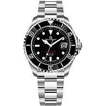 Gigandet Sea Ground 300-013M - Reloj automático para hombre (fabricado en Alemania, cristal de zafiro, Swiss Super Luminova, acero inoxidable, sumergible a 300 m, 30 bar, G300-013M)