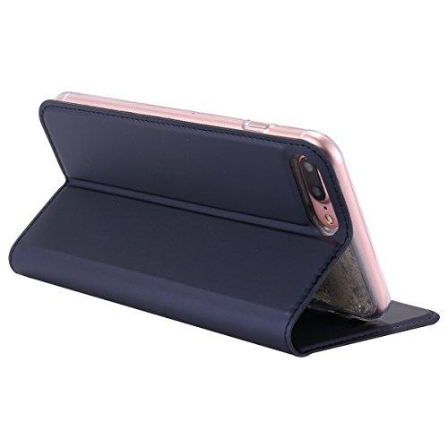 Custodia Cover per iPhone 7/8 plus,Ukayfe Luxury Ultra Slim PU pelle Protettiva Flip Portafoglio Cover Case Copertura Custodia con Super Sottile TPU Interno Case con Chiusura Magnetica per iPhone 7/8  Marina