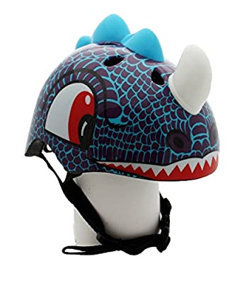 Dinosaur Childrens Safety Helmet Cycling Skating Scooter Bike (Suitable Kids aged 3 - 10) from LA Sports
