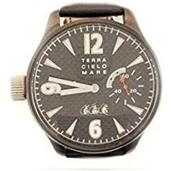 Mechanical Clock Men Land Sky Sea tc6114dlc3palimitedcarbonfiber quandrante Steel Black Leather Strap