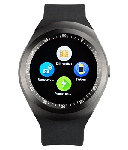 JYARA Bluetooth Smart Watch (Black) Wristband, Camera & Fashion New Arrival Hot Fashion Premium Quality Lowest Price Sports, Outdoor, Health, Digital Touch Screen, Lightweight, Wifi, Internet Compatible with Samsung Galaxy Grand 2 SM-G7102  available at amazon for Rs.2499