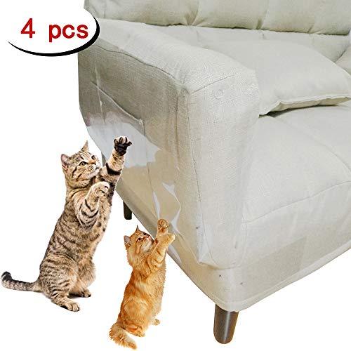 Clashduck Protectores de Muebles de Gatos para Muebles de Gatos, Protectores de arañazos para sofá, Puerta, Muebles de Madera, 4 Paquetes