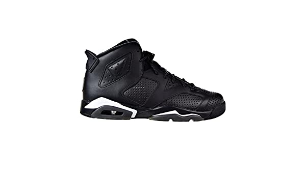 Air Jordan 6 Retro BG Big Kid/'s Shoes Black//Black//White 384665-020