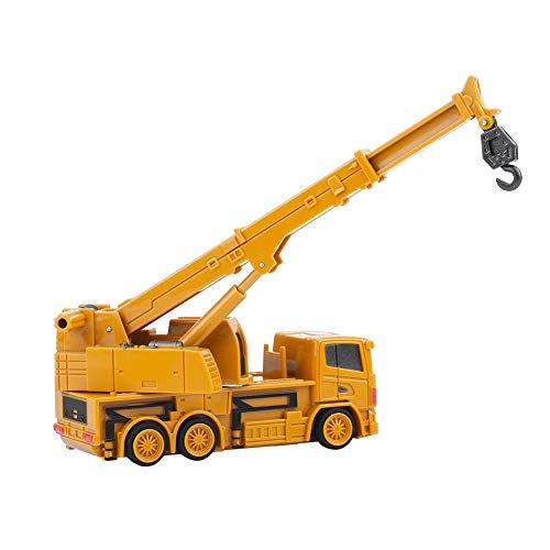 RC Auto kaufen Baufahrzeug Bild 5: Alomejor RC Bauwagen, Mini DIY Baufahrzeug RC Bagger Truck Bagger Kits Baustein Spielzeug(Kran)*