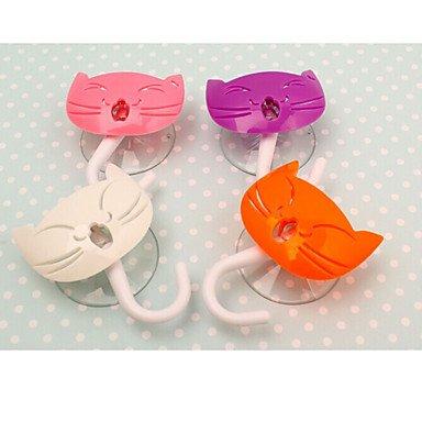 "Price comparison product image MEICHEN Kitten Design Multifunctional Decorative Hook,W5.6""xL6.4,Set of 2,Random Color"