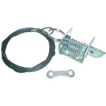 Asec Hs1829 Garage Door Lock Black Amazon Co Uk Diy