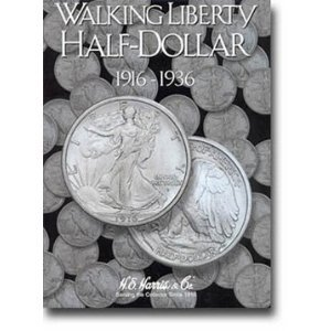 Harris Walking Liberty Half Dollar 1916-1936 Folder by Harris