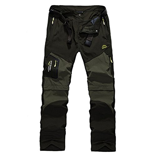 CIKRILAN Herren Outdoor Quick Dry Wicking Abnehmbar Zip Off Bein Hose Elastisch Stretch At