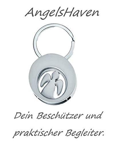 AngelsHaven   Schutzengel   Schlüsselanhänger Auto, Kinder Anhänger, Glücksbringer Prüfung, Engel Geschenke für Frau, Mann, Mädchen, Junge und der ganzen Familie (Engel Chip)