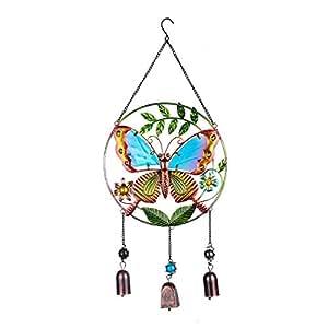 H&D rund Glöckchen mit Schmetterling Design Schönes Windspiel