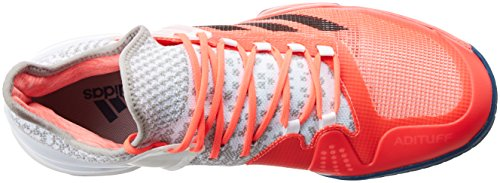 adidas Adizero Ubersonic 2, Chaussures de Tennis Homme Rouge - Rojo (Rojdes / Acetec / Ftwbla)
