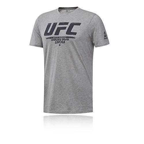 Reebok UFC FG Logo tee Camiseta, Hombre, brgrin, S