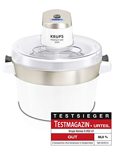Krups GVS241 Perfect Mix 9000 Eismaschine, 1,6l, Fassungsvermögen