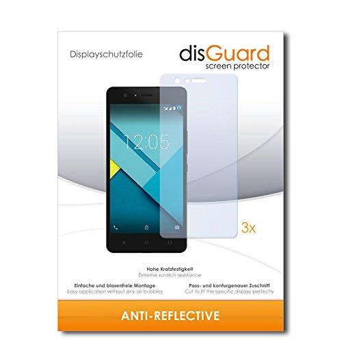 disGuard® Bildschirmschutzfolie [Anti-Reflex] kompatibel mit BQ Aquarius M5 [3 Stück] Entspiegelnd, Matt, Antireflektierend, Extrem Kratzfest, Anti-Fingerabdruck - Panzerglas Folie, Schutzfolie