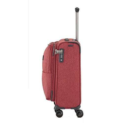 "TITAN Valise trolley ""Square"" avec 4 roues anthracite Koffer, 55 cm, 38 liters, Schwarz (Anthracite) Rot (Rouge)"