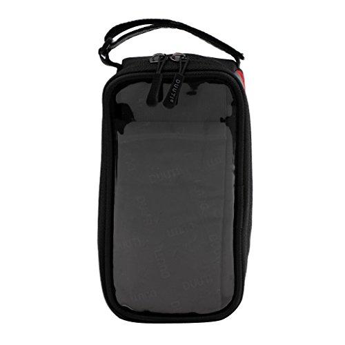 Gazechimp MTB Pannier Fahrradtasche Steuerrohr Tasche Aufbewahrung Beutel Gepäcktasche mit Reflexstreifen Rot