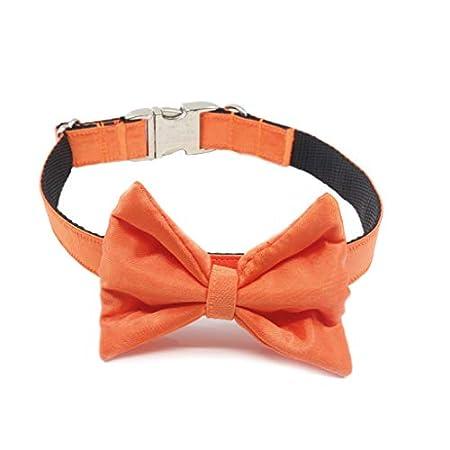 doguna Fliege für Hunde/Hundefliege aus Satin mit verstellbarem Hundehalsband für Weihnachten, Hochzeiten und Feiern