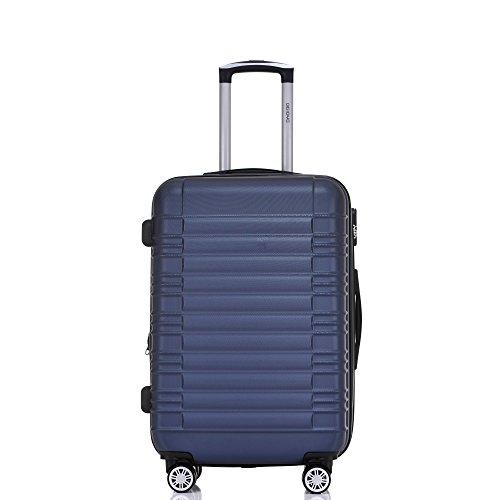 BEIBYE 2088 Zwillingsrollen Reisekoffer Koffer Trolleys Hartschale M-L-XL-Set in 13 Farben (Dunkelblau, XL) - 2